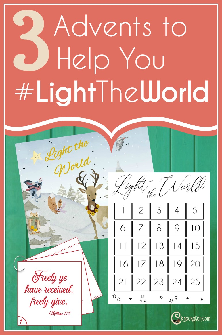 3 Christmas Advents to help #LIGHTtheWORLD #LDS #Mormon