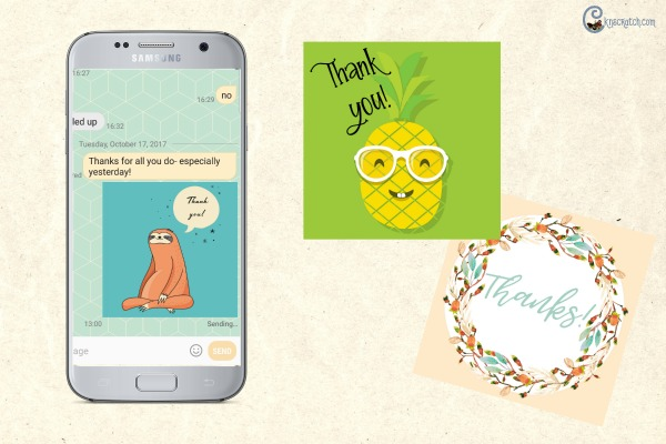 These are cute Thank You texts to send- fun idea