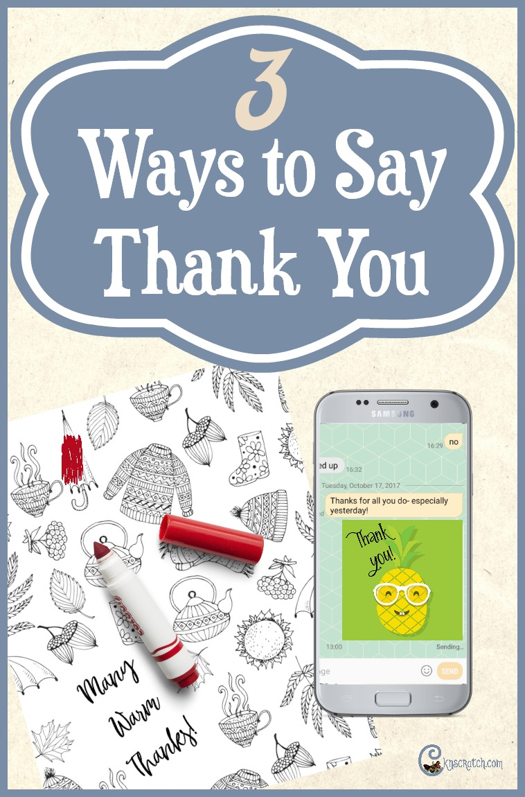 3 great ways to say Thank You- I like the coloring page