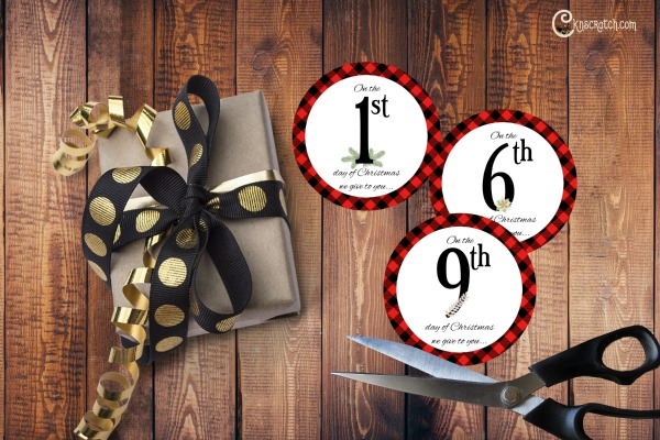 Free 12 days of Christmas gift tags