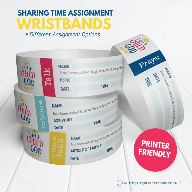 Yes! This is what we need for making Primary assignments- wristbands! #LDSprimary #IamaChildofGod