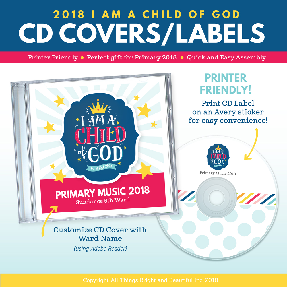 I love the idea of giving music CDs for the year to the LDS Primary children #IamachildofGod
