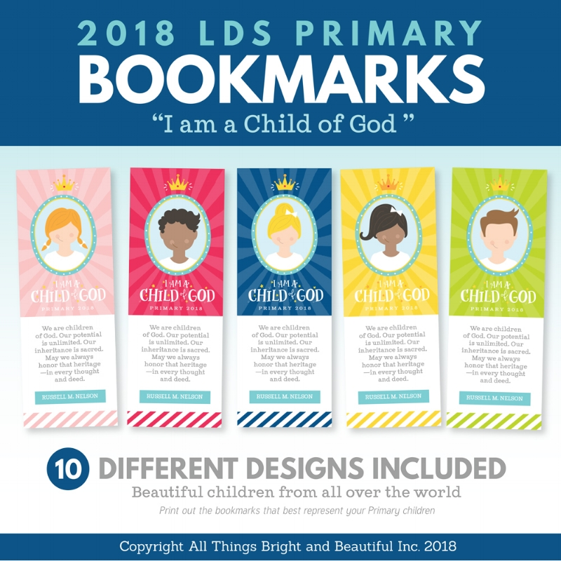 2018 LDS Primary Bookmarks I am a Child of God.jpg