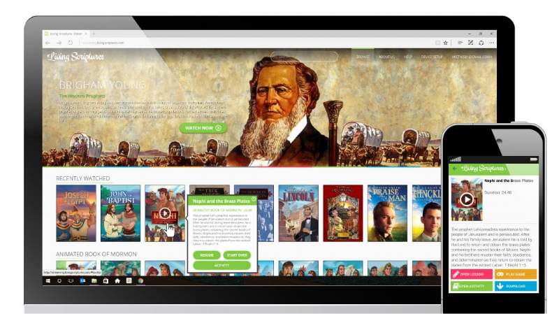 Living Scriptures streaming service makes such a great gift for Christmas!