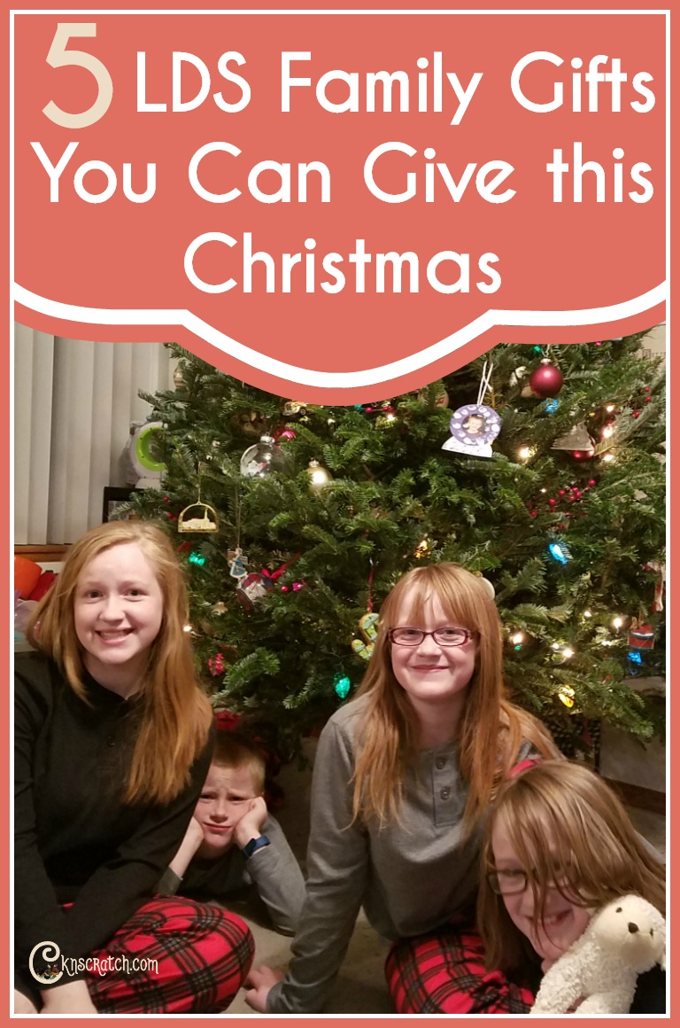 I like these ideas for a LDS family Christmas gift