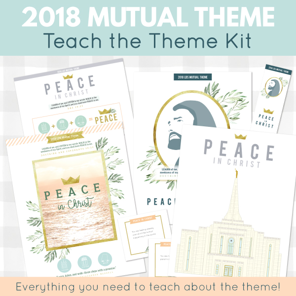 "Love this lesson for ""Peace in Christ"", the Young Women's theme for 2018 #LDS"