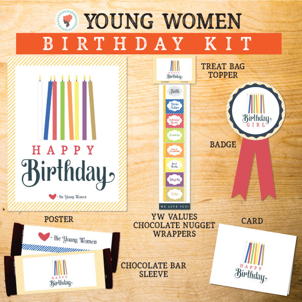 These will make great Birthday gifts for the Young Women! I love that you could use them every year! #LDS