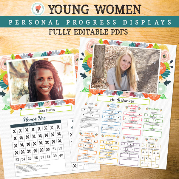 Oh I really like these Personal Progress and Honor Bee trackers! #LDS #YoungWomen