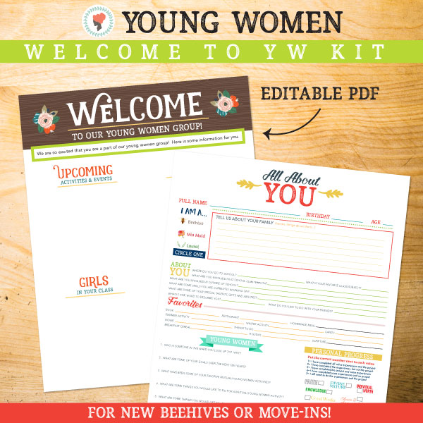 Great way to welcome in new Beehives or Move-ins to Young Women's