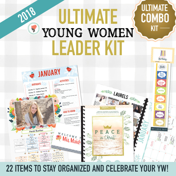 Awesome kit for Young Women leaders! I love all the printables to keep us organized! #LDS