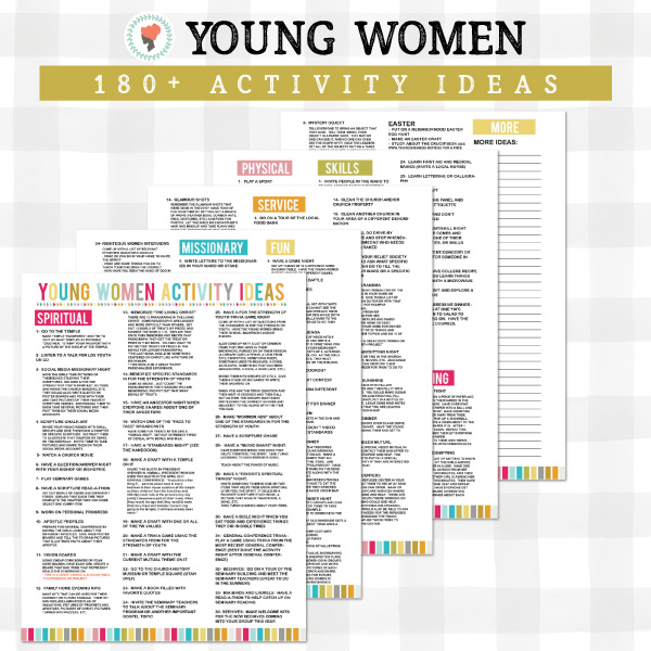 I love all these Young Women activity ideas!