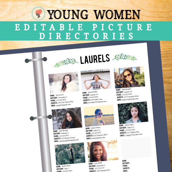 How nice would this photo directory be for our Young Women! #LDS