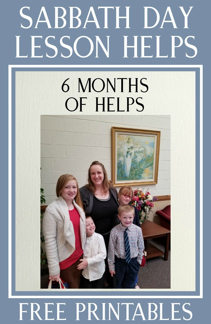 6 months of helps for lessons on the Sabbath Day in Relief Society and Priesthood #LDS #Sabbath