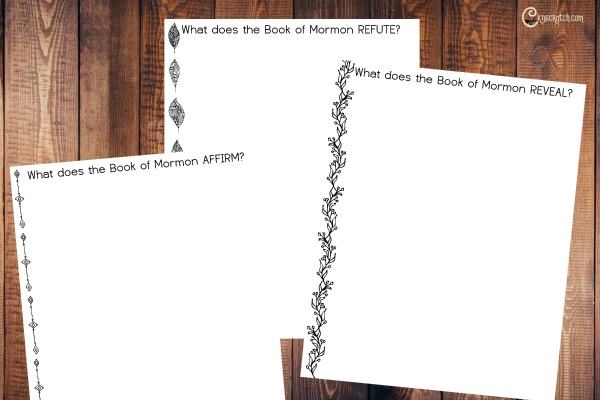 Journal pages to go with President Russell M. Nelson's talk on the Book of Mormon