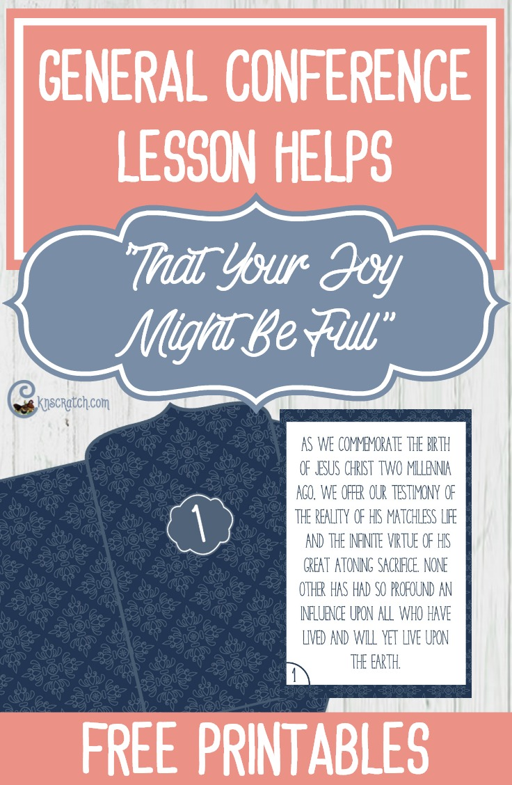 """Great helps for teaching """"That Your Joy Might Be Full"""" by Sister Jean B. Bingham"""