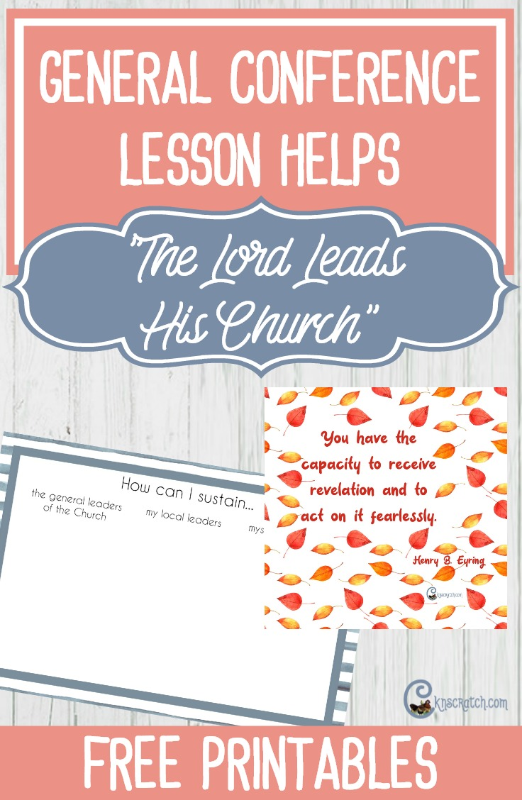 "LDS lesson helps for ""The Lord Leads His Church"" by President Henry B. Eyring #LDSconf"