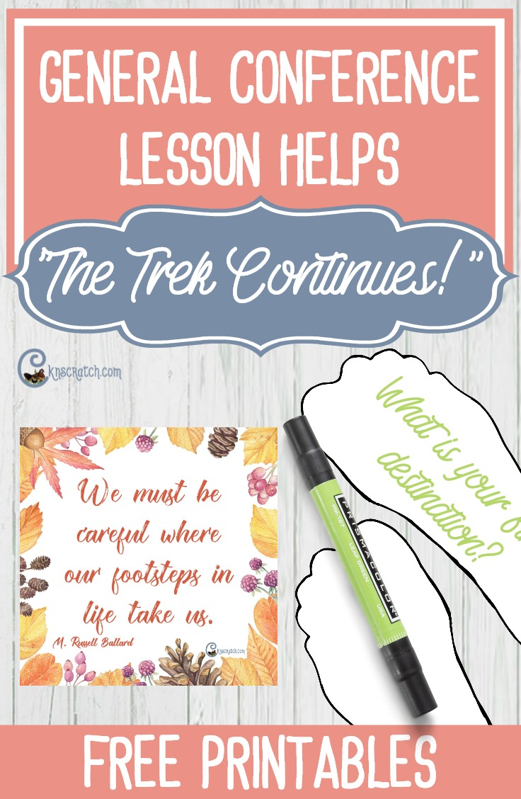 """LDS lesson helps and handouts for teaching """"The Trek Continues!"""" by Elder M. Russell Ballard"""