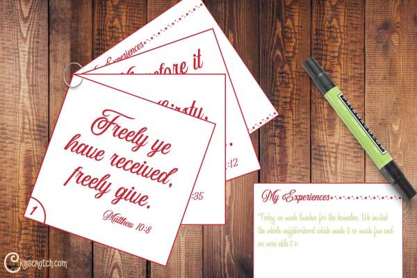 Service scripture cards