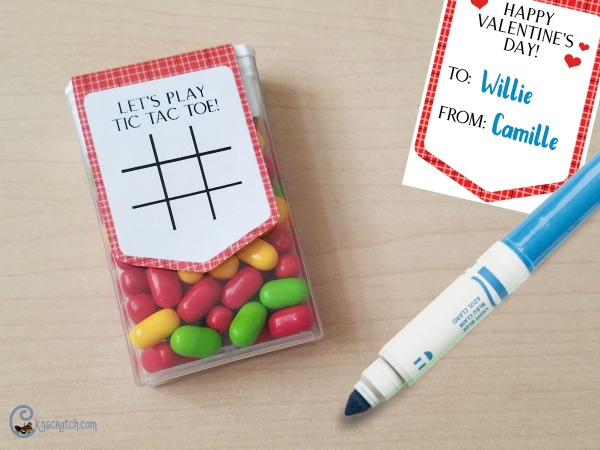 """Oh I love this idea! """"Tic Tac"""" Toe Valentine (and it's free)"""
