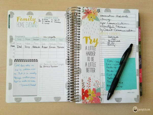 I love that the Mormon Mom planner helps keep track of the things that really matter