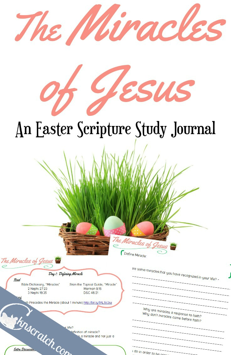 Love this idea! The Miracles of Jesus- An Easter Scripture Study