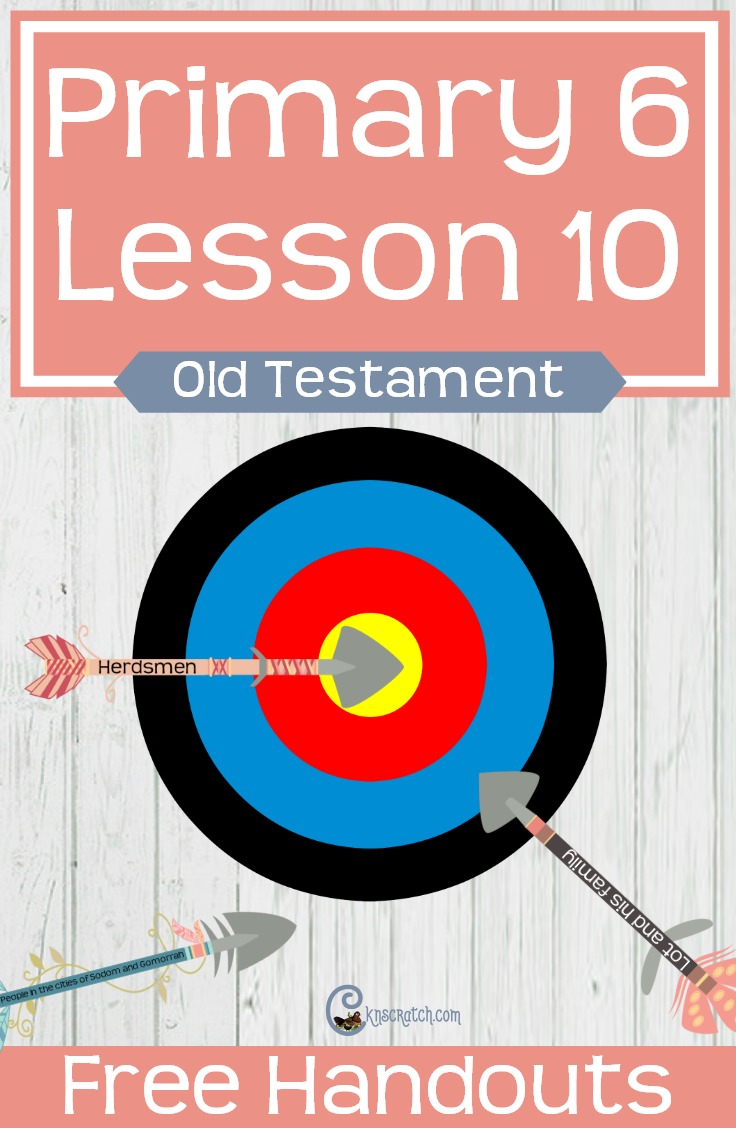 Oh, I love this! Use a target to talk about Abraham and Lot (stay on a target) LDS Primary 6 Lesson 10 (Old Testament)