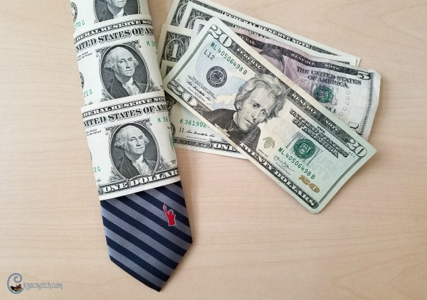 I've seen money ties before but I like how this one has the money AND the tie.