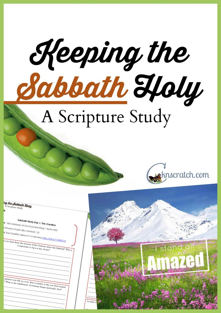 Great scripture study on the Sabbath day and why it's important to keep it holy