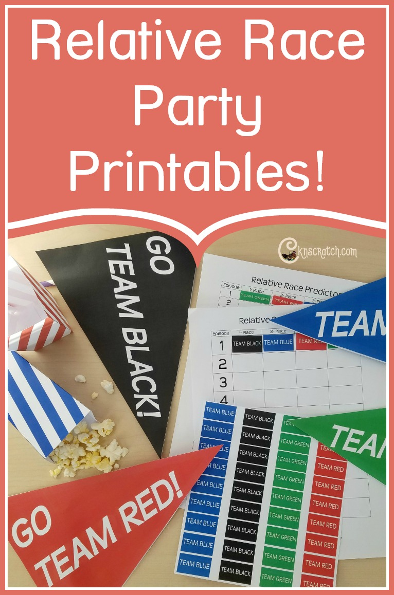 FREE Relative Race printables! I love this show!