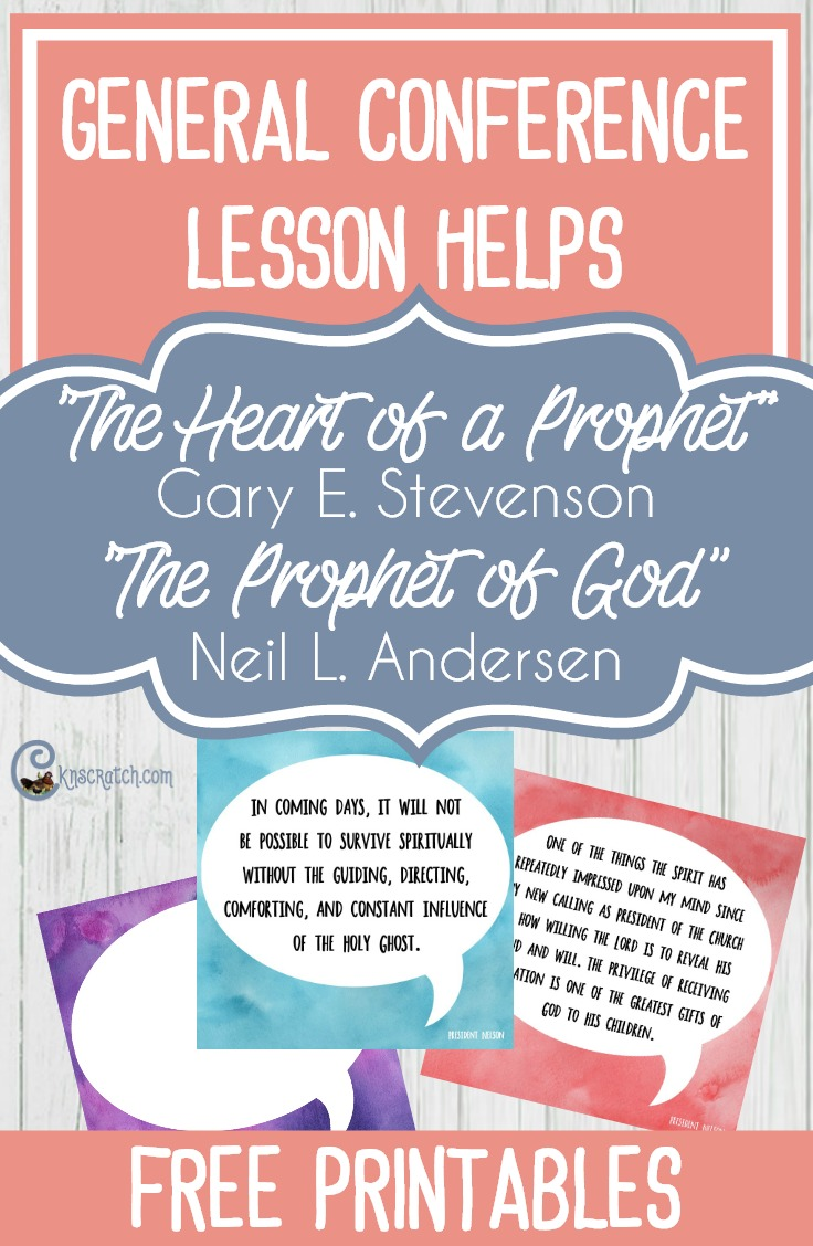 """Great discussion ideas for Elder Gary E. Stevenson's talk """"The of a Prophet"""" and """"The Prophet of God"""" by Elder Neil L. Anderson"""