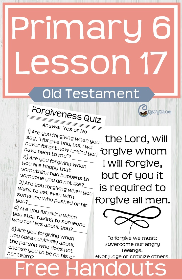 Great free handouts and resources to help you teach LDS Primary 6 Lesson 17: Joseph Forgives His Brothers