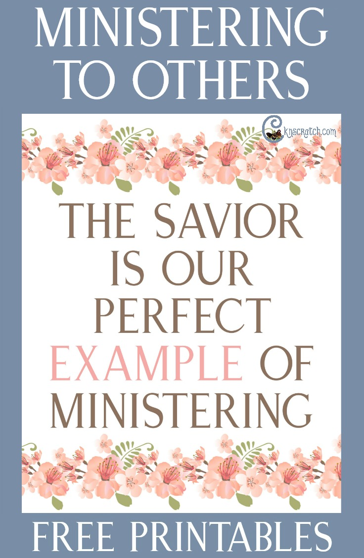 The Savior Is Our Perfect Example of Ministering