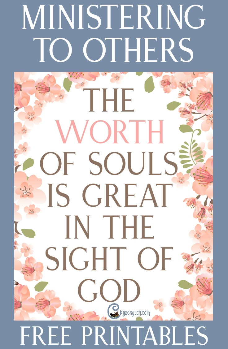 """The Worth of Souls Is Great in the Sight of God"" lesson helps and free printables"