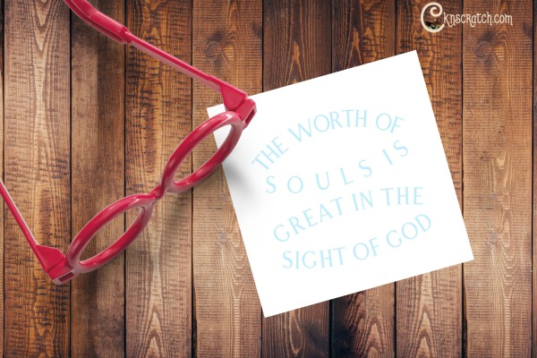 This is a fun decoder idea to talk about the worth of souls #LDS #ReliefSociety