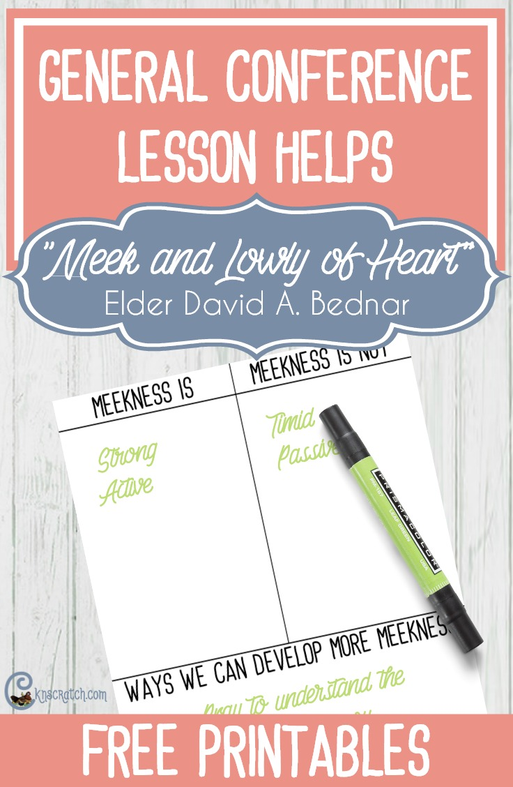 "Great ideas and resources to help lead a discussion on Elder David A. Bednar's ""Meek and Lowly of Heart"""