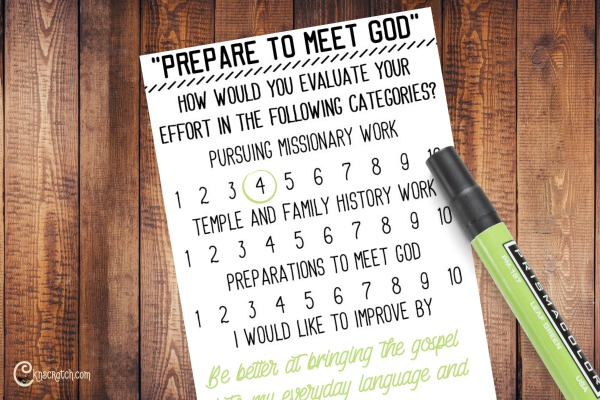 Prepare to Meet God handout to go with Elder Cook's General Conference talk