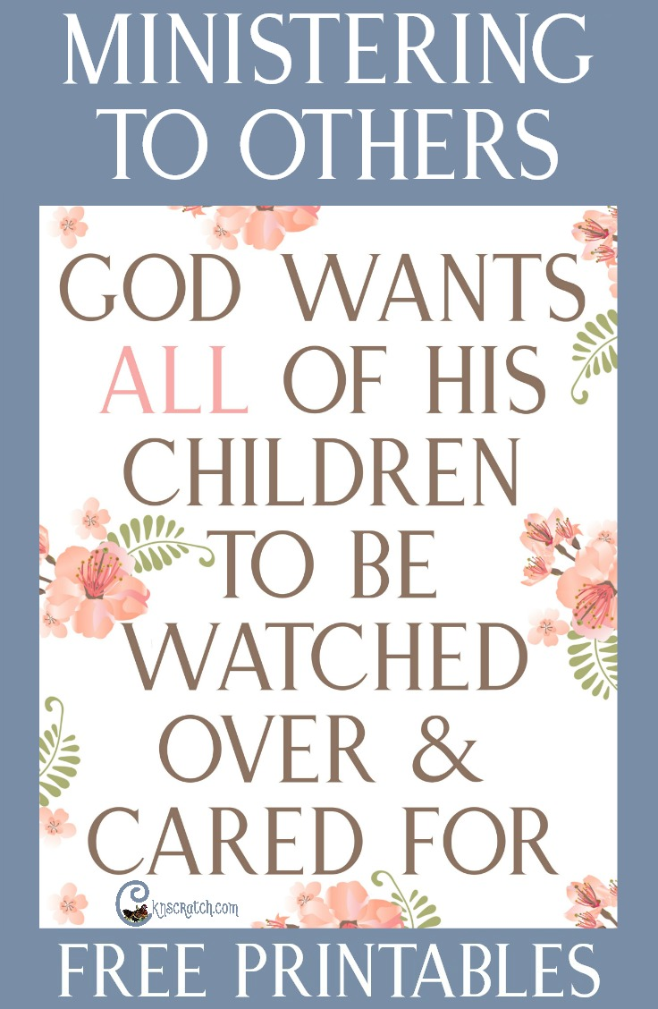 """Resources to help teach """"God wants all of His children to be watched over and cared for"""" #Ministering #LDS #Mormon"""