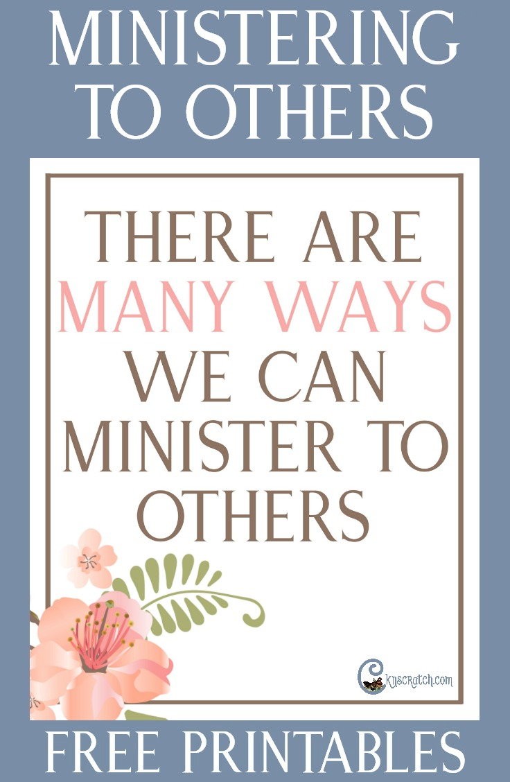 Great resources to help teach about how to minister in many ways #Ministering #LDS #Mormon #ReliefSociety