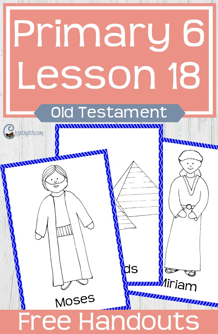 What a fun game idea for teaching about the birth and calling of Moses #LDS #LDSPrimary #Mormon #Moses