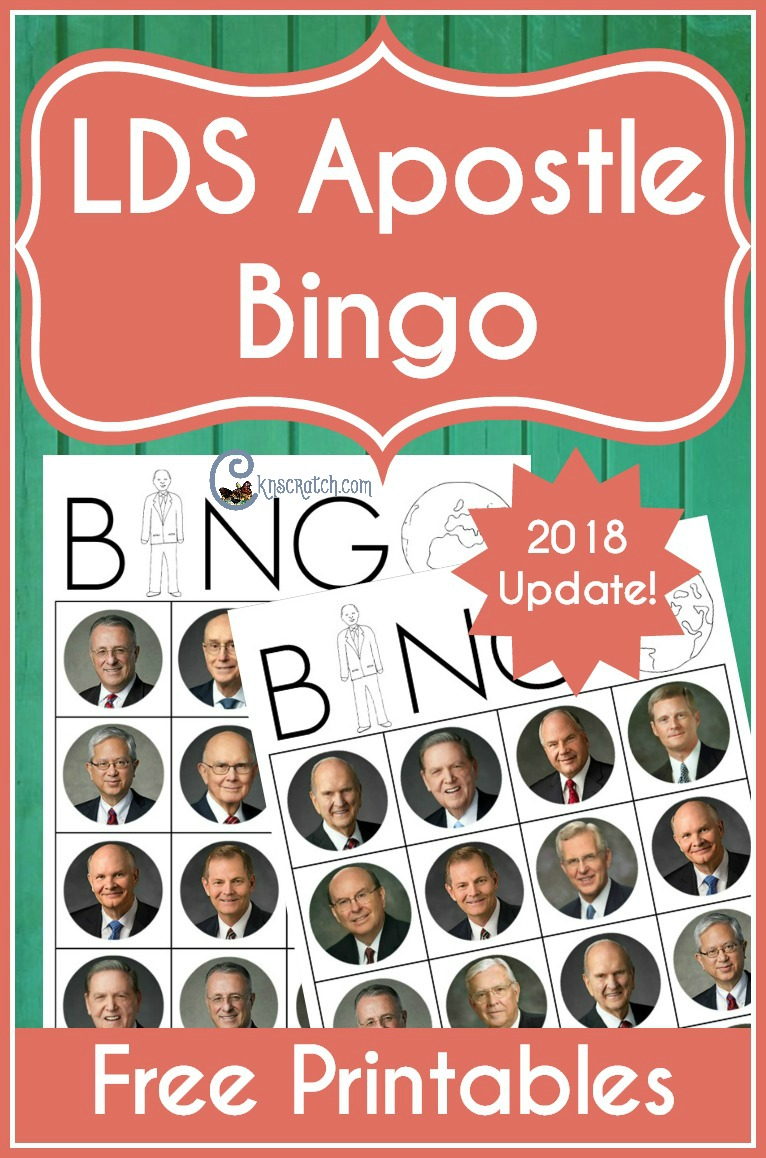 I love this! LDS apostle Bingo. Would be great to prepare for General Conference or a Family Home Evening (with new 2018 apostles) #FHE #LDSconf #Mormon #LDS