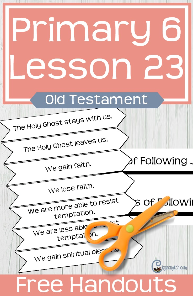 I love this site- free handouts and great LDS helps for teaching Primary 6 Lesson 23: Joshua Leads Israel