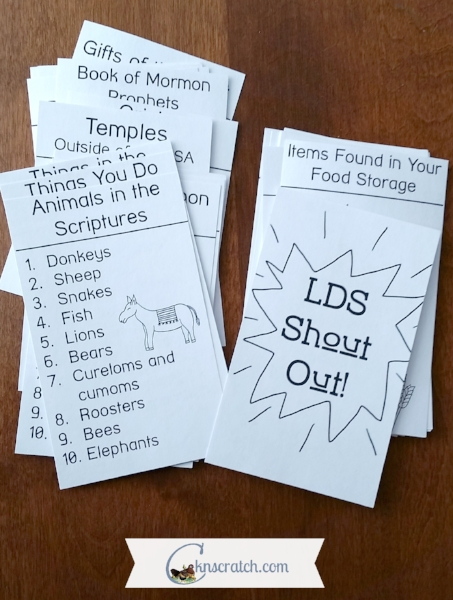 Great ideas for last minute LDS lessons- this one looks like a lot of fun.