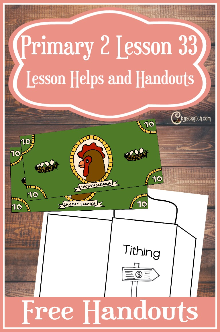 Now this is fun for teaching about tithing- free lesson handouts and helps for Primary 2 Lesson 33: I Can Pay Tithing