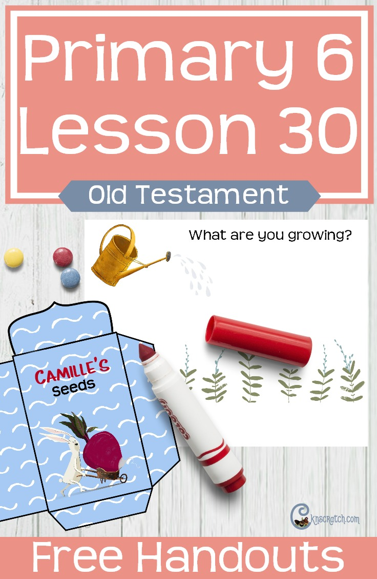 I like the seed idea- great free handouts and resources for teaching LDS Primary 6 Lesson 30: King David and Bathsheba #Mormon #LDS #LDSprimary