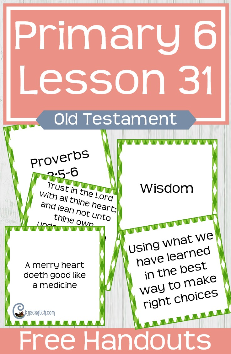 I love all these free resources at this site. Great helps and a matching game to go with teaching LDS Primary 6 Lesson 31: The Wisdom of King Solomon #LDS #Mormon #LDSprimary