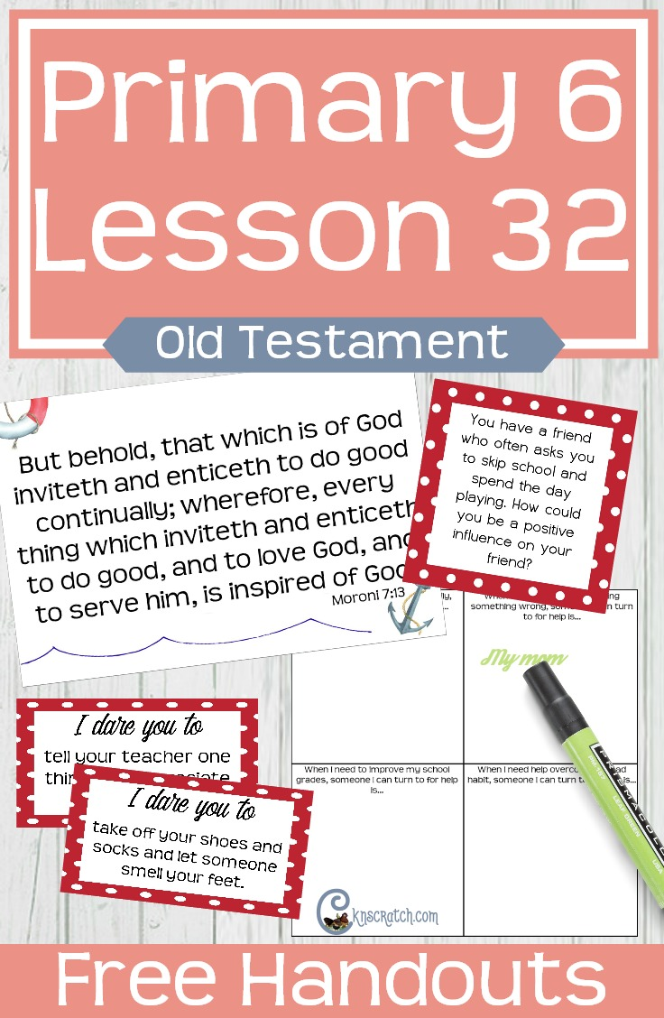 Lots of great free handouts and helps for teaching LDS Primary 6 Lesson 32: Rehoboam and the Power of Influence #Mormon #LDSprimary