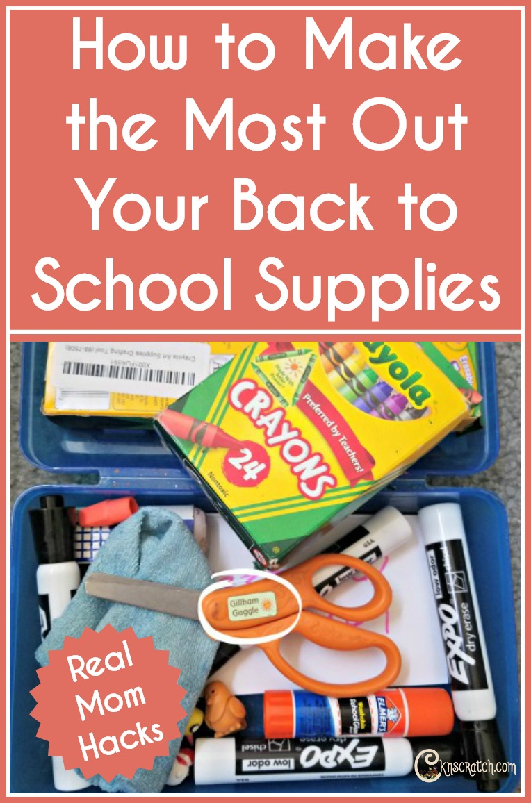 Great mom hacks for making the most of your back to school supplies #backtoschool #momhacks