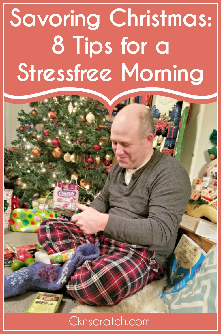 Great tips to enjoy Christmas morning! I don't know why I didn't think of the first one before- so smart! #Christmas #lifewithkids #cknscratch