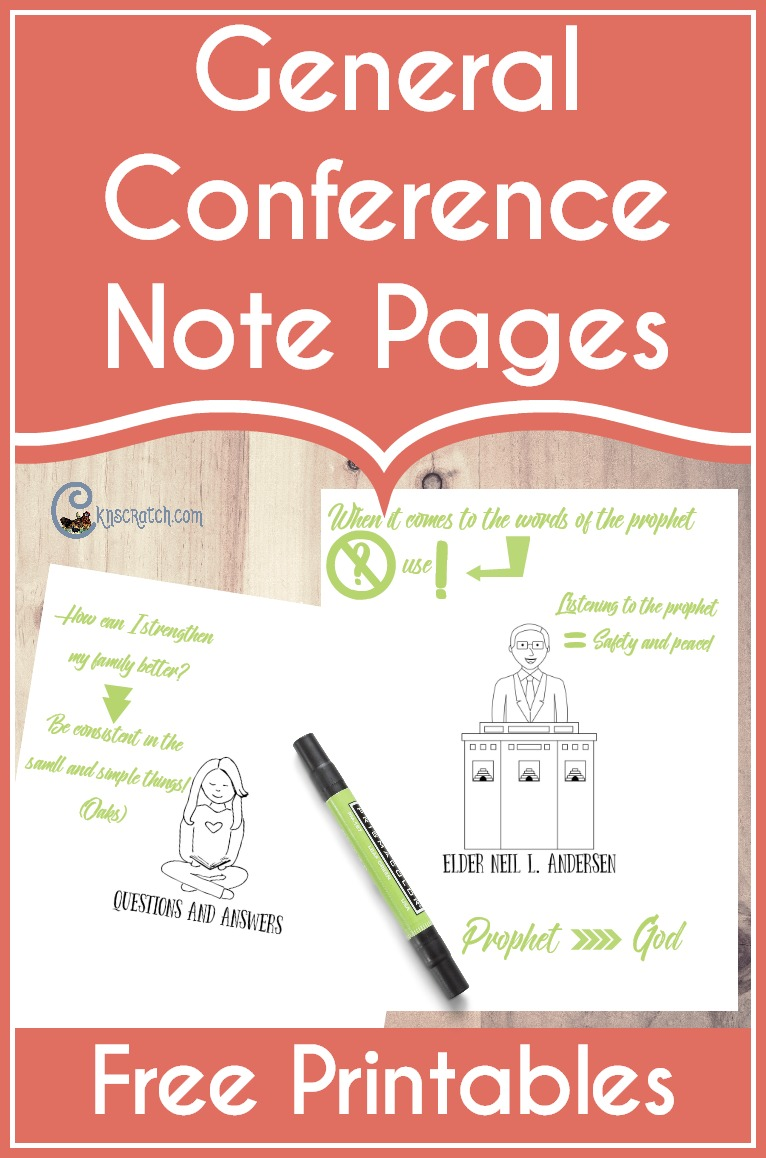 Love these note pages for LDS General Conference. I really like the action page included- such a great idea. #LDSconf #LDS #Mormon #GeneralConference