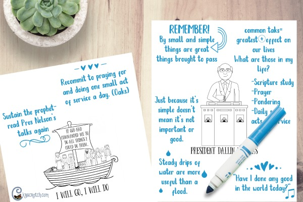 Love these General Conference note pages- such a great idea for kids, teens, and adults. #LDSconf #LDS